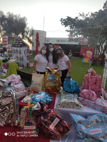 Natal drive thru no CMEI Maria Anadão Molina