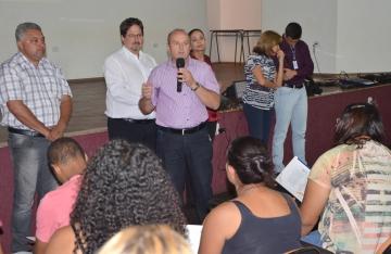 O vice-prefeito, Beraldo, destacou a importância de participar de cursos de capacitação