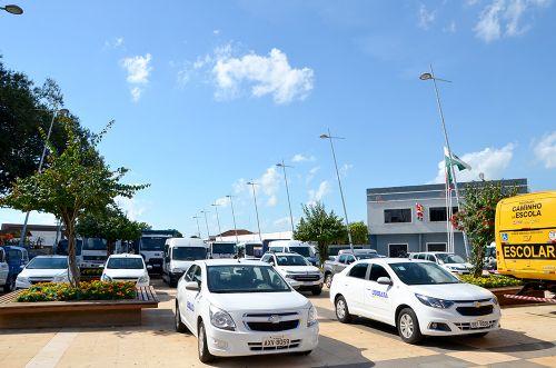 Administração Municipal apresentou parte da Frota de Veículos