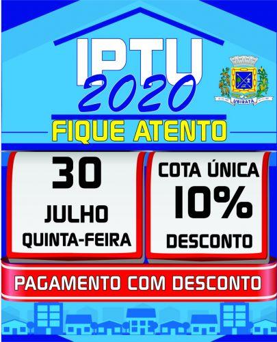 IPTU 2020: prazo para pagamento com 10% de desconto termina no dia 30 de julho (quinta-feira)