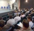 Prefeito Baco falou aos presentes sobre os benefícios da internet de alta velocidade no município