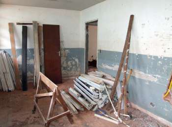 Obras estão bem adiantadas no antigo Posto de Saúde Central