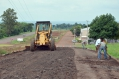 O pavimento existente foi totalmente mexido para que a melhoria nesse trecho da perimetral fosse executada