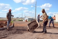 A recuperação desse trecho da Avenida João Pipino foi executado por funcionários da Secretaria de Serviços Urbanos/Pavimentação