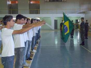 A cerimônia foi realizada no Ginásio Municipal de Esportes