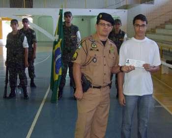 Sargento da Polícia Militar, Heveraldo Teodoro Alves participou da cerimônia