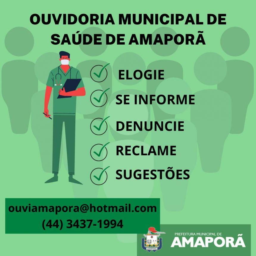 OUVIDORIA MUNCIPAL DE SAÚDE DE AMAPORÃ-PR