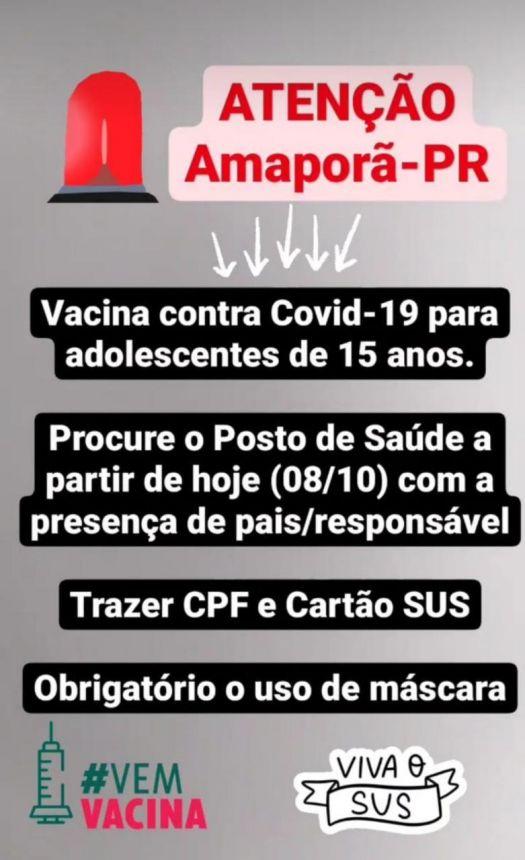 VACINA CONTRA COVID 19 PARA ADOLESCENTE
