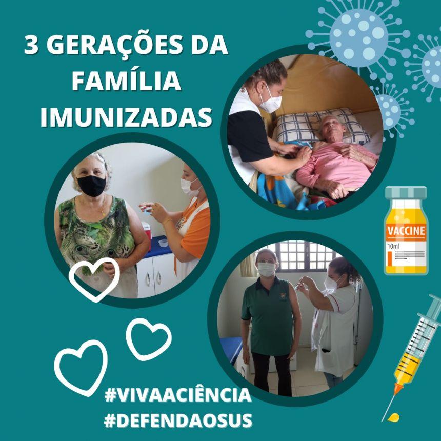 3º GERAÇÕES DA FAMILIA IMUNIZADAS