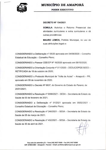 RETORNO AULAS PRESENCIAIS