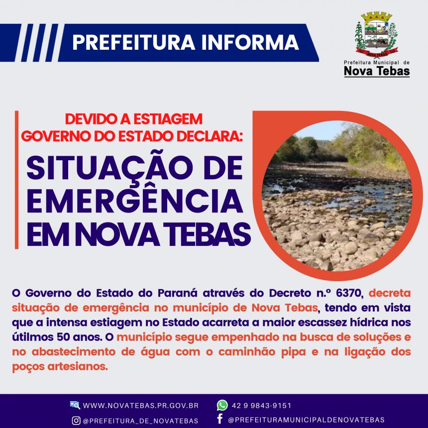Situação de Emergência Hídrica