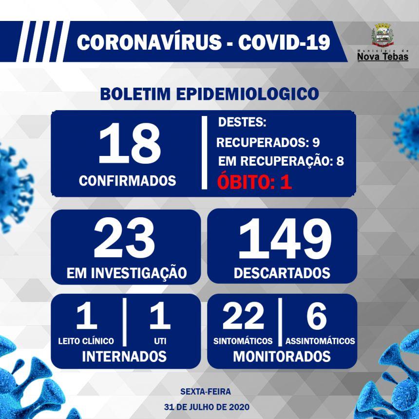 Boletim Epidemiológico 31 de Julho de 2020
