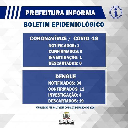 Boletim Epidemiológico 27/03/2020