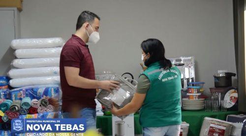 Lar do Idoso recebe mais de 20 mil em utensílios domésticos e produtos de higiene pessoal