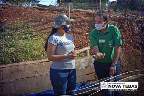 Produtores rurais de Nova Tebas participam de Curso de Manejo de Gado de Leite