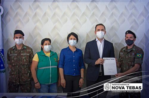 O Prefeito de Nova Tebas foi empossado presidente da Junta de Serviço Militar