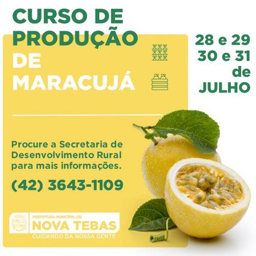 Curso de produção de Maracujá