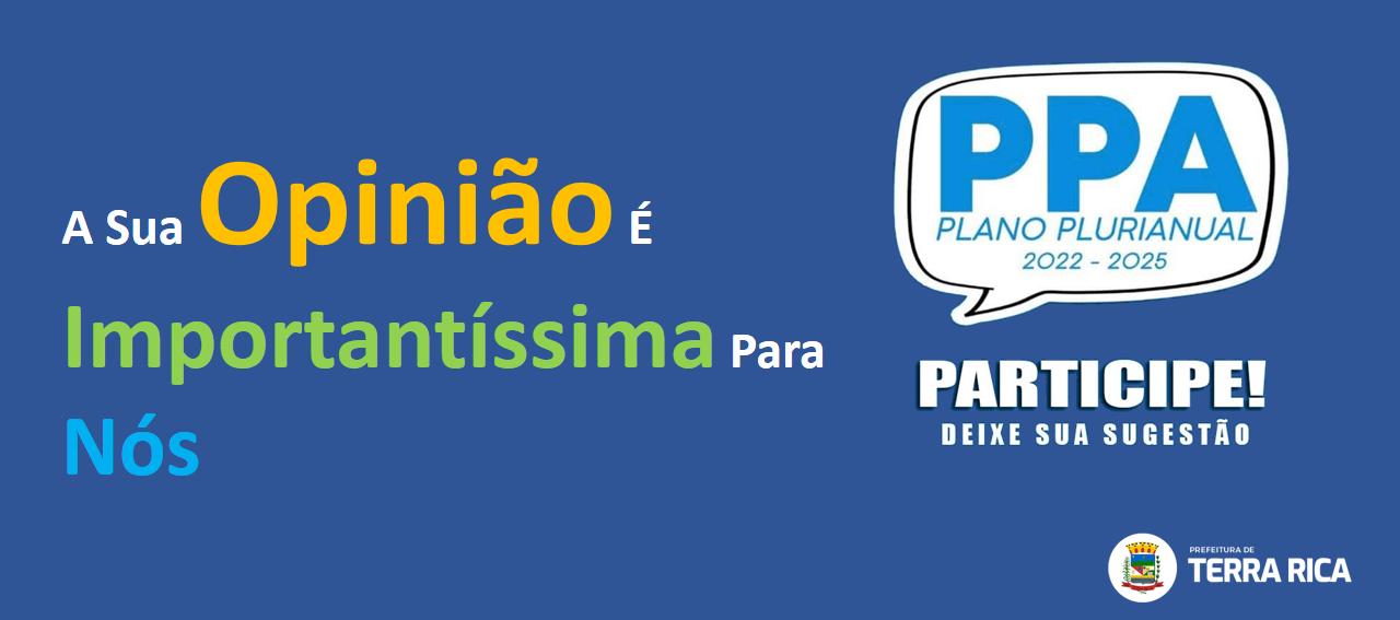 PPA- PLANO PLURIANUAL 2022-2025