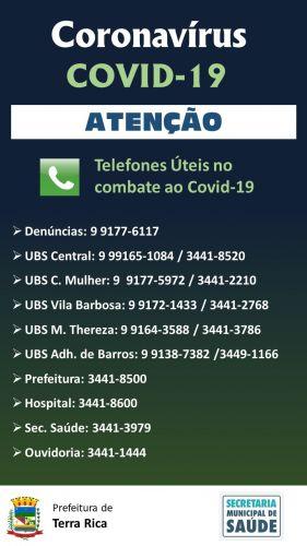 Telefones Úteis no Combate ao Coronavírus