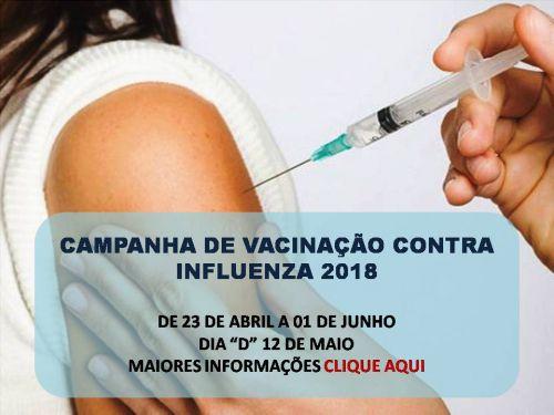 Campanha nacional de vacinação contra a Influenza tem início dia 23 de abril