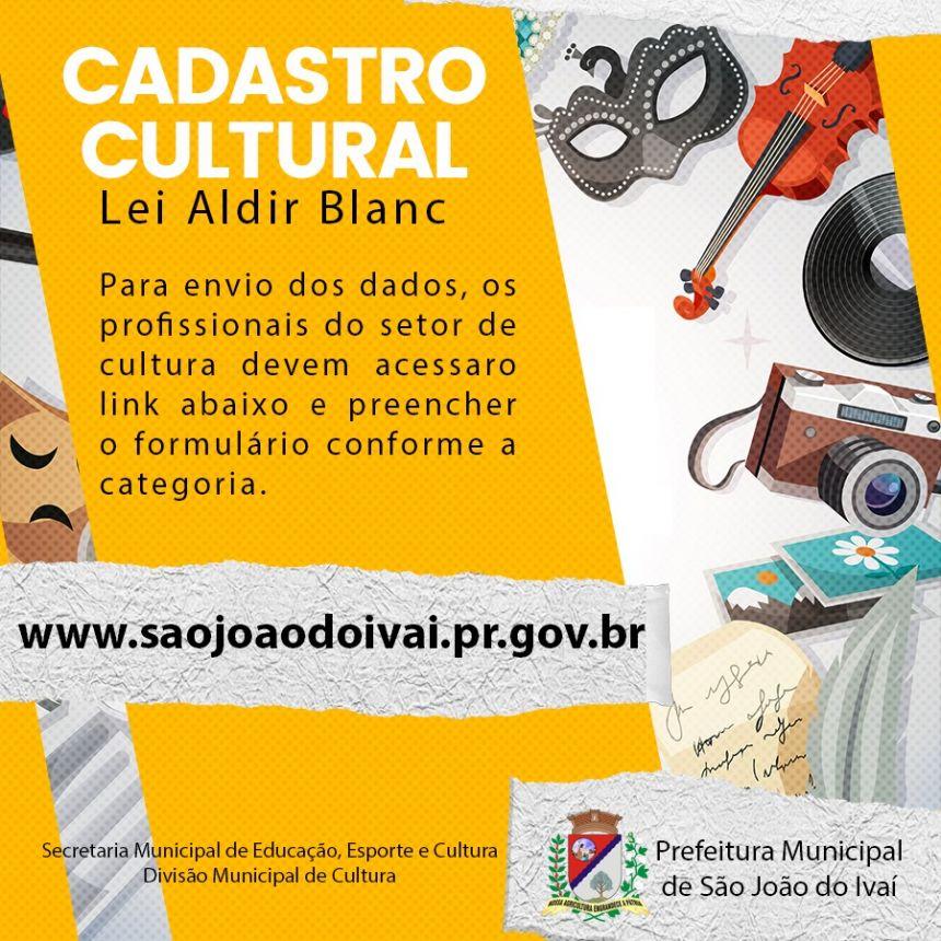 LEI ALDIR BLANC / LEI DE EMERGÊNCIA CULTURAL