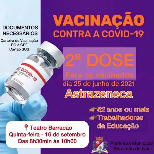 Vacinação da 2ª  dose.