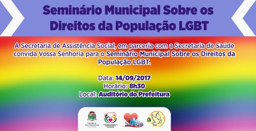 Assis realiza Seminário Municipal dos Direitos da População LGBT