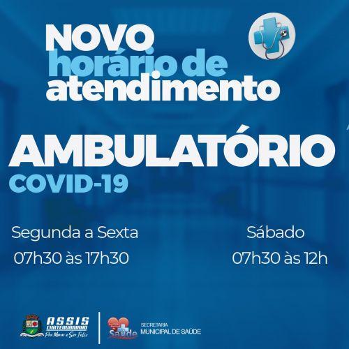 Ambulatório Covid-19 em novo horário de atendimento em Assis Chateaubriand