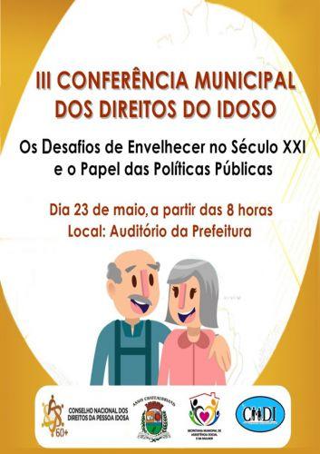 III Conferência Municipal dos Direitos do Idoso acontece nesta quinta em Assis