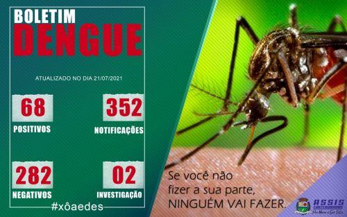 Semana novamente sem caso novo de dengue em Assis Chateaubriand
