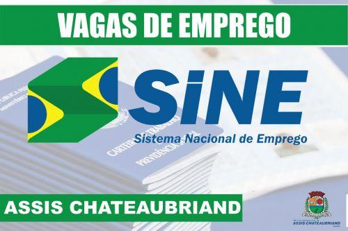 VAGAS DA AGÊNCIA DO TRABALHADOR DE ASSIS CHATEAUBRIAND