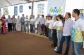 Autoridades do estado e do município durante a abertura oficial do evento