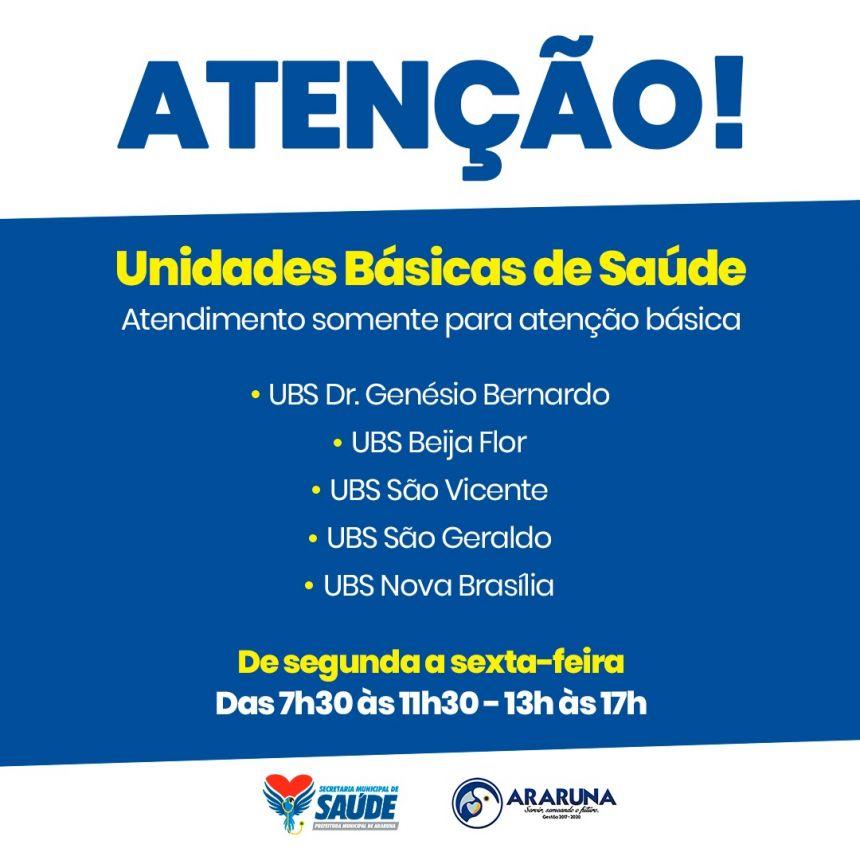 Unidades básicas de saúde (UBS)