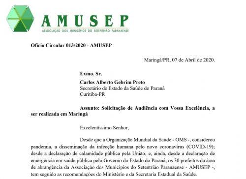 Prefeitos da Amusep solicitam audiência com Beto Preto para falar sobre leitos de UTI na região