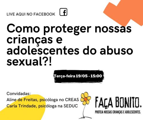 Psicólogas promovem live sobre abuso sexual