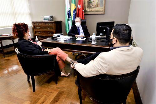 Em Curitiba, prefeita Ivon�ia se re�ne com deputado federal Tercilio Turini Inserir