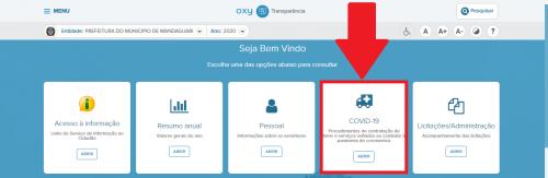 Gastos de enfrentamento ao coronavírus estão expostos no Portal da Transparência