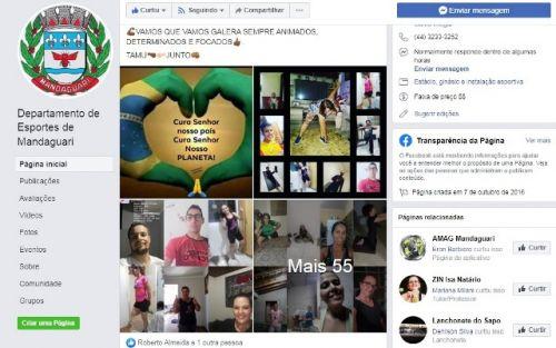 Departamento de Esportes utiliza redes sociais para manter atletas e a população em atividade