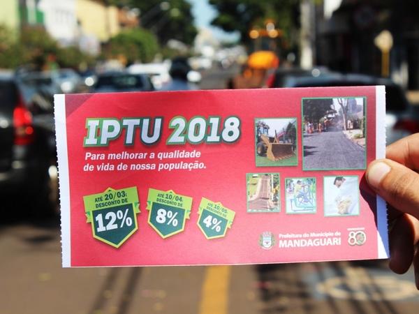 Prazo para pagamento do IPTU com 8% de desconto termina dia 10 de abril
